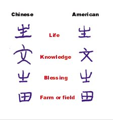 Similarities Chinese and Ancient American Writing