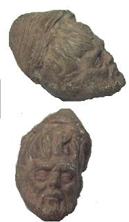 Roman Clay head found in Well