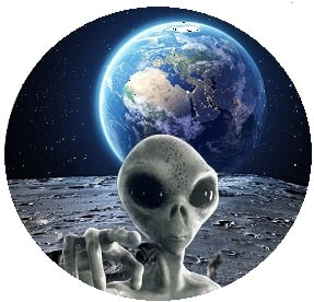 alien on moon