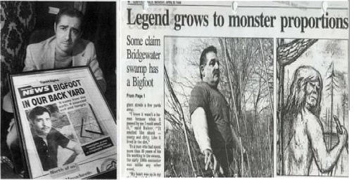 Newspaper Clipping Hockomock Swamp Monster