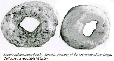 Stone Anchors unearthed in California Believed to be of Chinese origin. - or- Giant Fossilized Donuts.