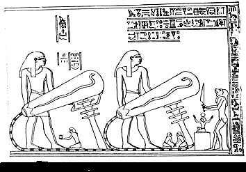 Ancient Relief Depicting possible use of Electricity in Ancient Egypt