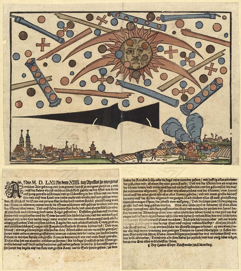 UFO Battle Nuremburg Germany 1561