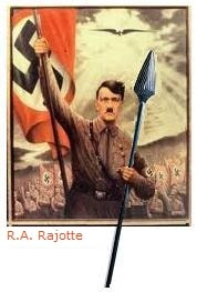 Adolf Hitler clutching the Spear of Destiny