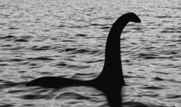 Early photograph of Loch Ness Monster