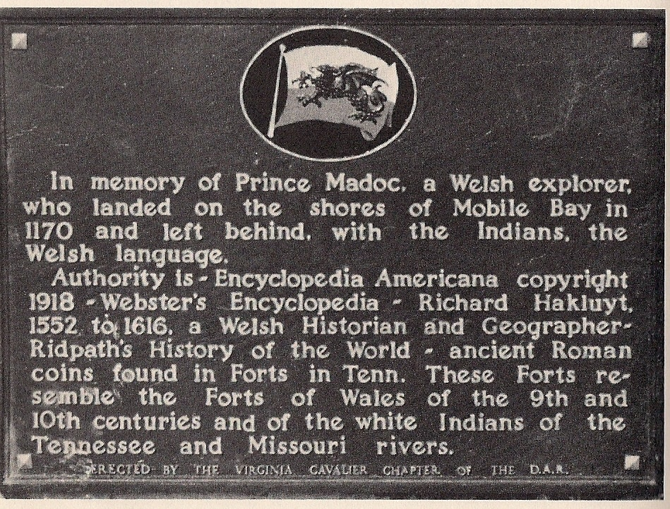 Plaque erected to Prince Mardoc at Fort Morgan Alabama