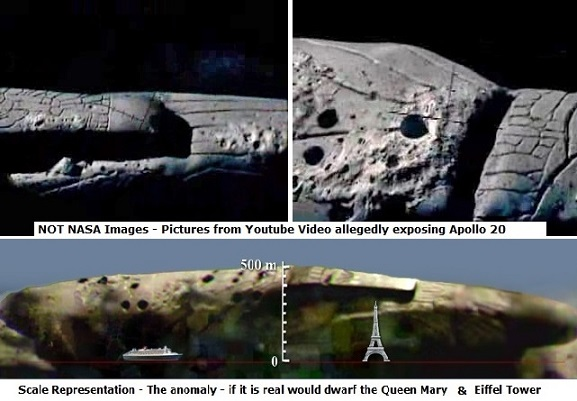 ancient alien ship on the moon