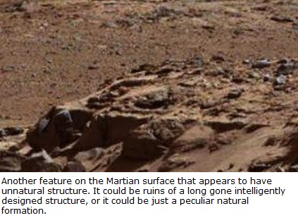 Possible ruins - foundation of long gone building on Mars