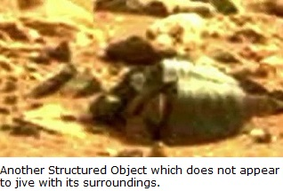 structured object on mars