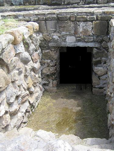 Entrance to one of the larger Monte Alban Tunnels