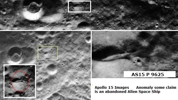 Possible abandoned space craft on the moons surface