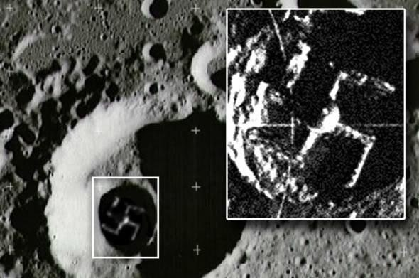 Nazi Swastika on the Moon