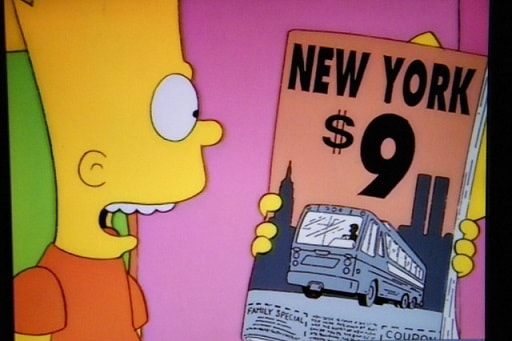 Episode of the Simpson which appears to have anticipated 9-11