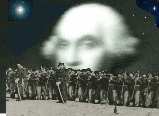 Union Troops Ghost of George Washinhton